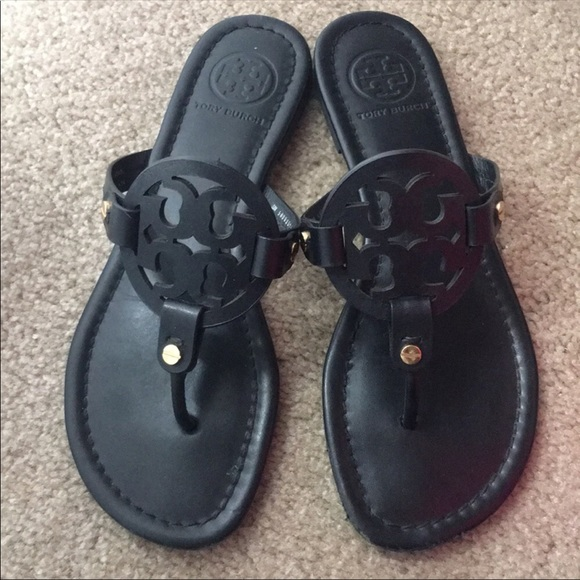 d8b9692b0d8f Tory Burch Black Matte Miller Sandals size 7 M. M 5aea368f45b30c9b7d7401aa